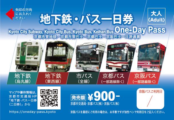 京都市 地下鉄・バス1日券